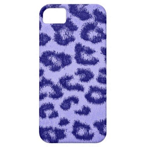 Blue Purple Leopard Print Skin Fur iPhone 5 Cases