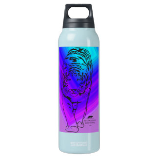 Blue/Purple Lilly Insulated Water Bottle