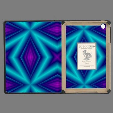 blue purple line iPad mini cover
