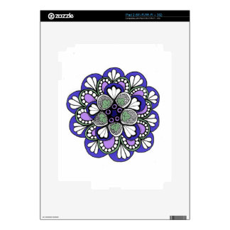 Blue Purple Mandala Decals For The iPad 2