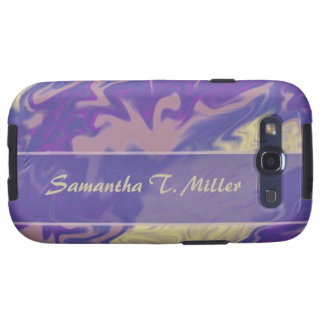blue purple marble texture samsung galaxy s3 cover