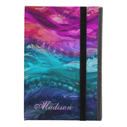 Blue purple marbling waves iPad mini 4 case