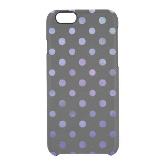 Blue Purple Metallic Foil Small Polka Dot Black Uncommon Clearly™ Deflector iPhone 6 Case