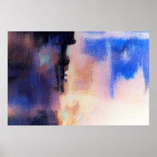 Blue Purple Modern Abstract Art Print Art Posters