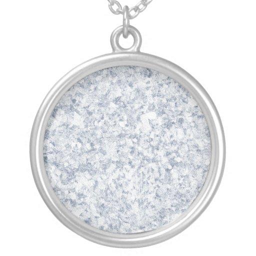 blue purple mottled background round pendant necklace