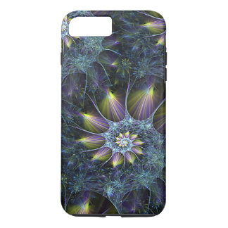 Blue Purple Nautilus Spiral Floral Fractal Pattern iPhone 7 Plus Case