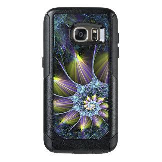 Blue Purple Nautilus Spiral Floral Fractal Pattern OtterBox Samsung Galaxy S7 Case