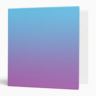 Blue & Purple Ombre 3 Ring Binder
