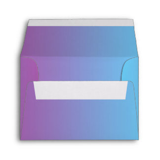 Blue & Purple Ombre A2 Felt Envelope