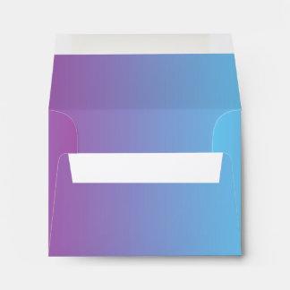 Blue & Purple Ombre A2 Felt Envelope
