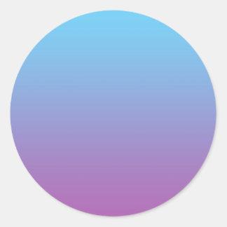 Blue & Purple Ombre Classic Round Sticker