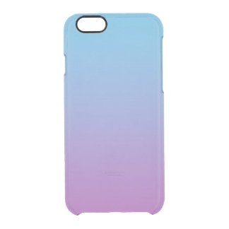 Blue & Purple Ombre Clear iPhone 6/6S Case