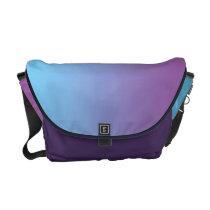 Blue & Purple Ombre Courier Bag