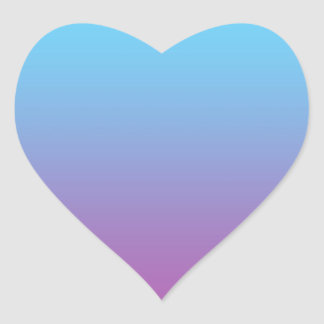 Blue & Purple Ombre Heart Sticker