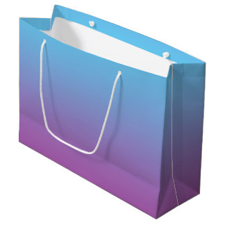 Blue & Purple Ombre Large Gift Bag