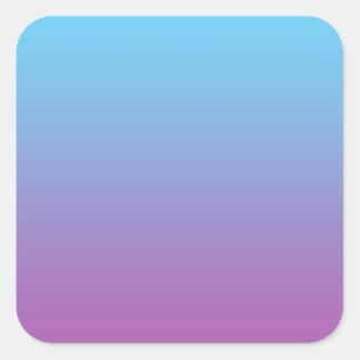Blue & Purple Ombre Square Sticker