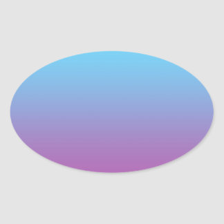 Blue & Purple Ombre Oval Stickers