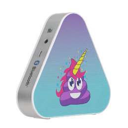 Blue & Purple Ombre Unicorn Poo Emoji Bluetooth Speaker