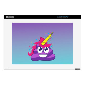 Blue & Purple Ombre Unicorn Poo Emoji Laptop Skins