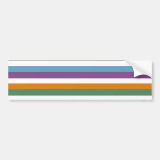 Blue Purple Orange Green Stripes Pattern Bumper Stickers