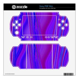 Blue purple pattern skin for PSP slim