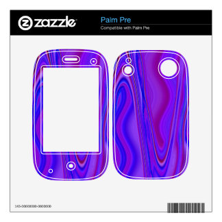 Blue purple pattern palm pre skin
