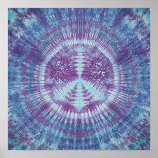Blue & Purple Peace Sign Tie Dye