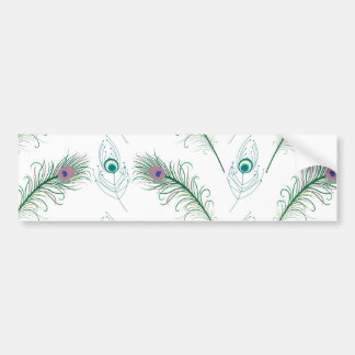 Blue Purple Peacock Feathers Bumper Stickers