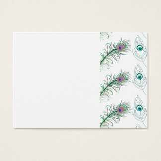 Blue Purple Peacock Feathers Business Card