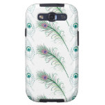 Blue Purple Peacock Feathers Galaxy SIII Case
