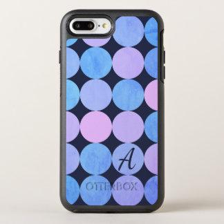 Blue Purple & Pink Circles Monogram OtterBox Symmetry iPhone 8 Plus/7 Plus Case