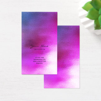 Blue Purple Pink Red Burgundy VIP Ombre Glass Business Card