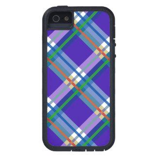 Blue Purple Plaids, Checks, Tartans iPhone 5 Cover