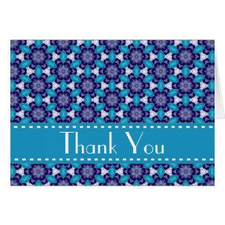 Blue Purple Retro Bridal Shower Thank You V06 Stationery Note Card