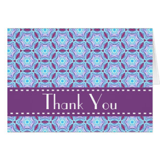 Blue Purple Retro Bridal Shower Thank You V07 Stationery Note Card