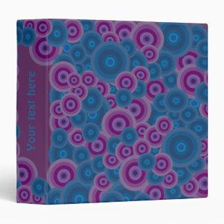 Blue & purple retro circles binder