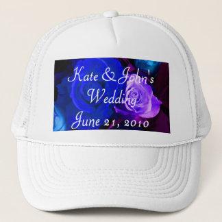 Blue Purple Rose Trucker Hat