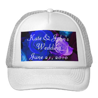 Blue Purple Rose Trucker Hat
