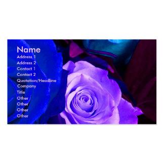 Blue Purple Roses Artist I Business Card Business Card