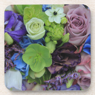 Blue Purple roses by Therosegarden Beverage Coaster