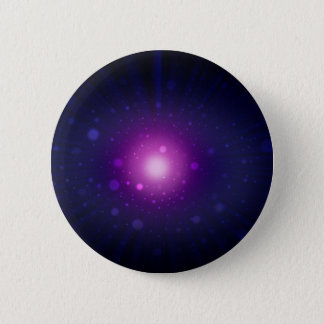 Blue Purple Space Galaxy Stars Abstract Button