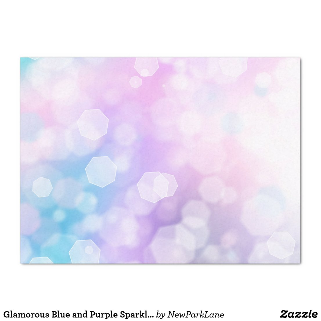 BLUE & PURPLE SPARKLES - Tissue Paper