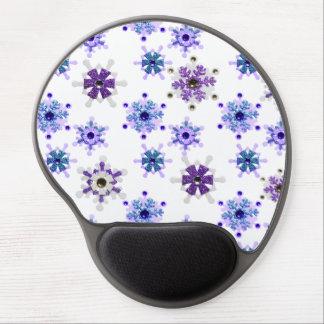 Blue & Purple Sparkling Winter Snowflakes Gel Mouse Pad
