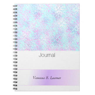 Blue Purple Spatter Abstract Journal