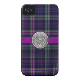 Blue & Purple Spirit of Scotland CMDS Tartan Plaid iPhone 4 Case