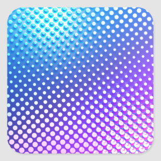 Blue Purple Square Sticker