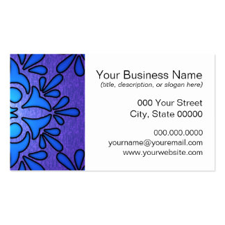Blue Purple Stainded Glass Style Design Double-Sided Standard Business Cards (Pack Of 100)