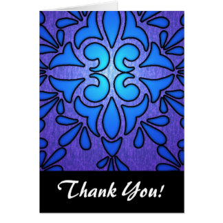 Blue Purple Stainded Glass Style Design Stationery Note Card