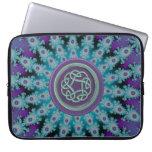 Blue Purple Star Fractal Celtic Knot Laptop Sleeve