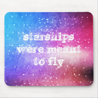 Blue purple starry galaxy sky mouse pad